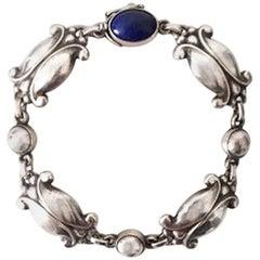 Georg Jensen Sterling Silver Bracelet with Lapis Lazuli No 11