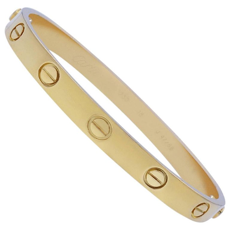 Cartier Yellow Gold Bangle with Screwdriver Bracelet