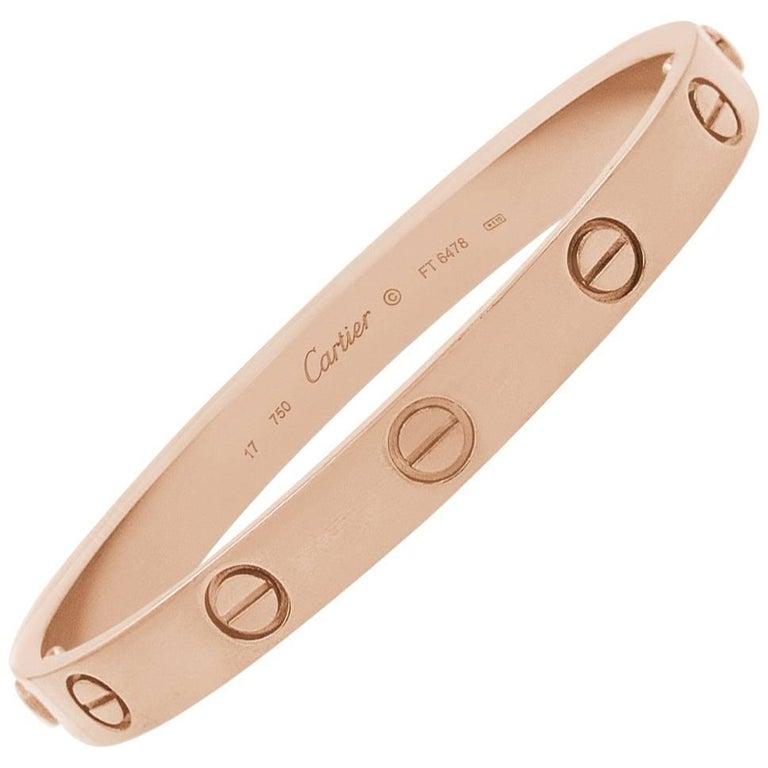 Cartier Rose Gold Bangle with Screwdriver Bracelet