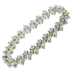 Tiffany & Co Jean Schlumberger Lynn Diamond Bracelet 2.77 TCW 18KT YG Platinum