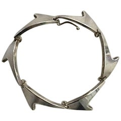 Bent Knudsen Sterling Silver Shark Fin Bracelet