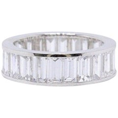 Picchiotti Baguette Cut Diamond Channel Set Eternity Band 5.50 Carat in Platinum