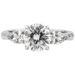 Mark Broumand 2.27 Carat Round Brilliant Cut Diamond Engagement Ring