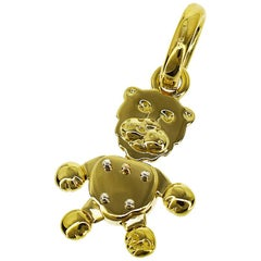 Pomellato Lion Pendant Top 18 Karat Yellow Gold Charm