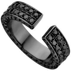 18kt Black Gold & Black Diamond Brute Ring