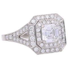 Hancocks Vintage 0.91 Carat D Color Asscher Cut Diamond and Platinum Ring