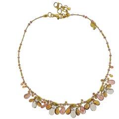 Gurhan 24 Karat Gold Confetti Multi Gemstone Necklace