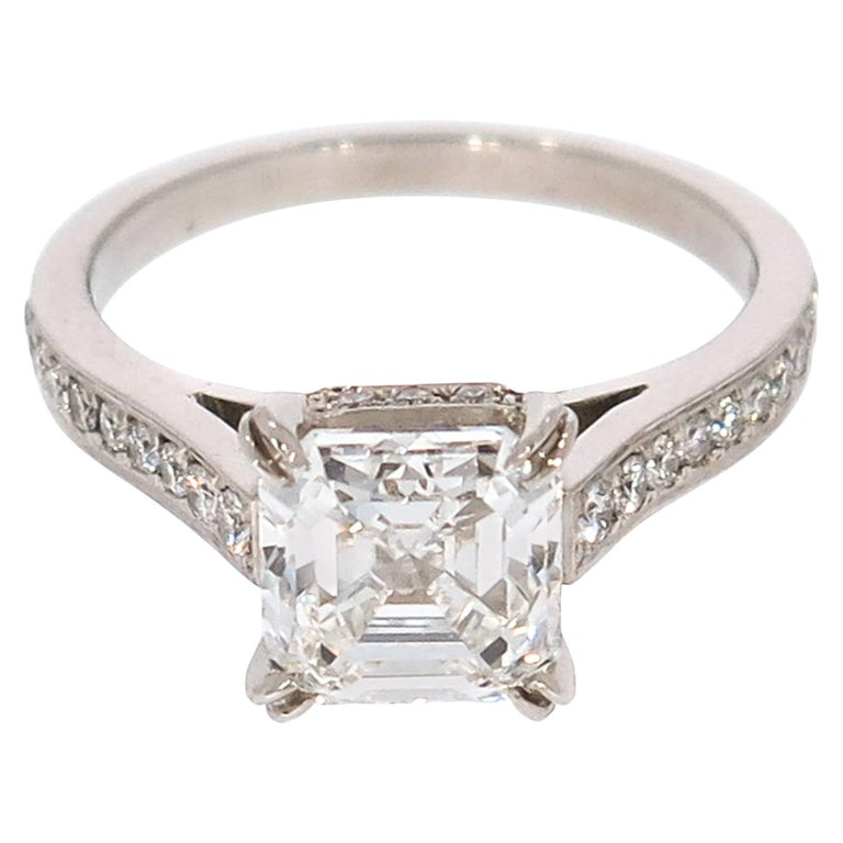Cartier Important Art Deco 8.22 Carat Asscher Cut Diamond ...