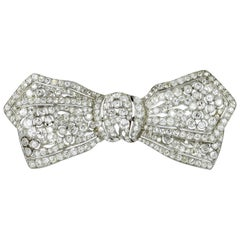 Belle Époque Diamond Bow Brooch in Platinum 950