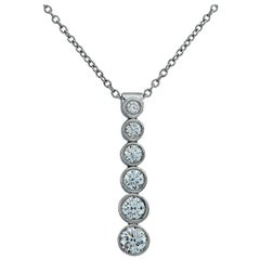 Tiffany & Co. Diamond Jazz Drop Necklace