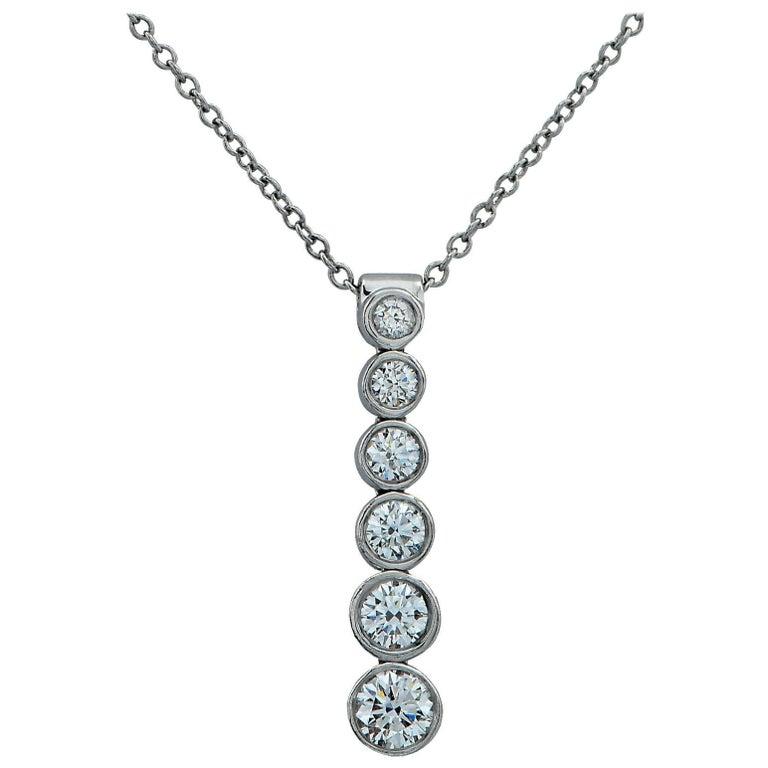 Tiffany & Co. Diamond Jazz Drop Necklace