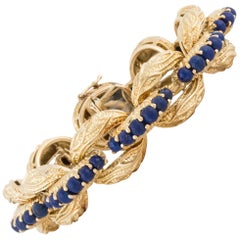 Tiffany & Co. 18 Karat Lapis Bracelet