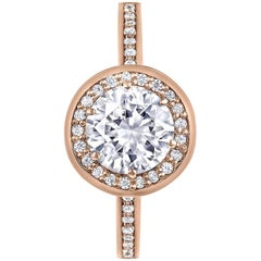 Alex Soldier Eternal Love Diamond Rose Gold Engagement Wedding Cocktail Ring