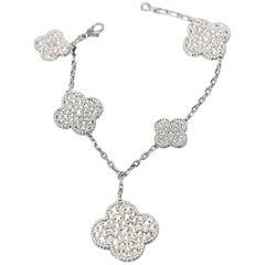 Van Cleef & Arpels Magic Alhambra Five-Motif Diamond Bracelet