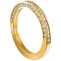 Alex Soldier Eternal Love Diamond Gold Wedding Band One of a Kind