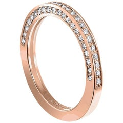 Alex Soldier Eternal Love Diamond Rose Gold Wedding Band One of a Kind