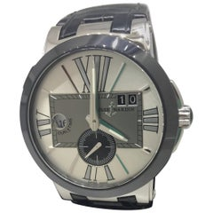 Ulysse Nardin Executive Dual Time Silver Dial Automatic Men's Watch 243-00/421