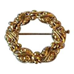 Evald Nielsen 14 Karat Gold Brooch