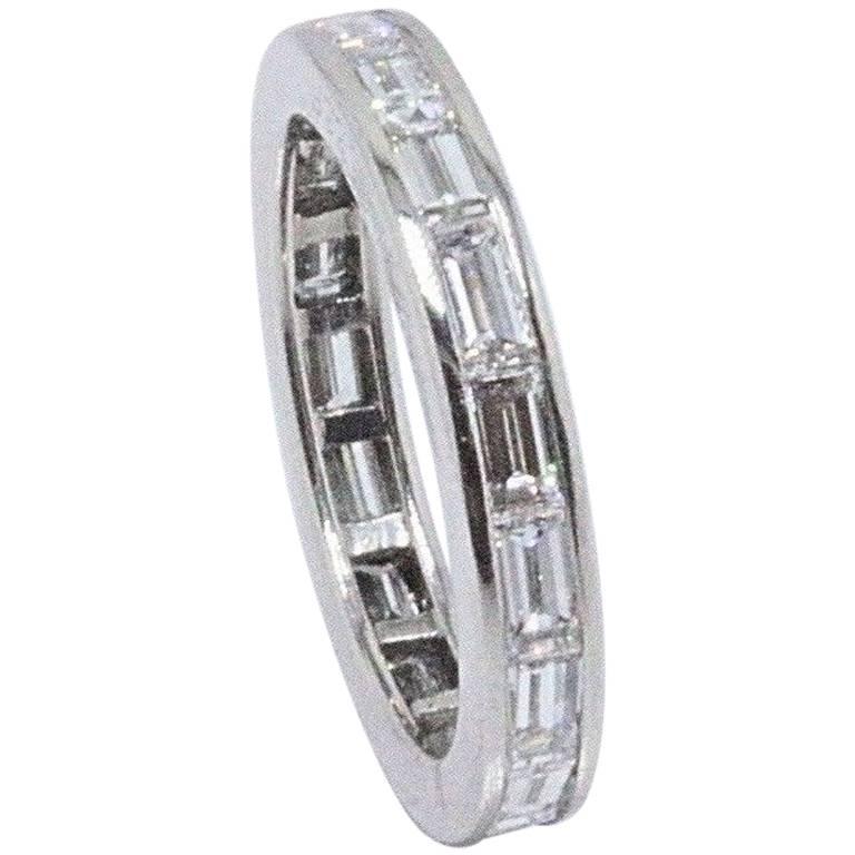 Van Cleef and Arpels Baguette Diamond and Platinum Eternity Wedding ...