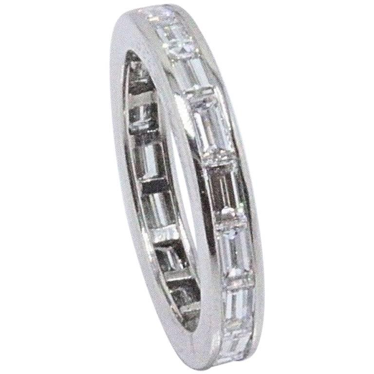 Van Cleef & Arpels Baguette Diamond and Platinum Eternity Wedding Band 2.25 TCW