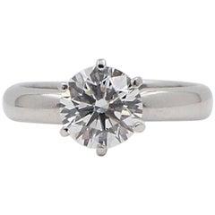 De Beers Millennium Round Diamond Ring 1.12 Carat G VS1 Limited Edition