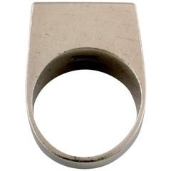 Bent Knudsen Sterling Silver Ring in Modern Stylish Danish Design, 1960s