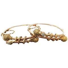 Victorian Snake Bangle Bracelets