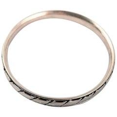 Hans Hansen Sterling Silver Bracelet in Modern Danish Design