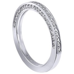 Alex Soldier Eternal Love Diamond Platinum Wedding Band One of a Kind