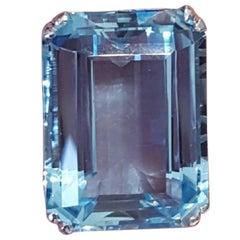 30 Carat Aquamarine Ring