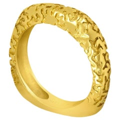Alex Soldier Lily Yellow Gold Band One of a Kind