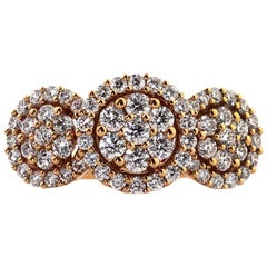Mark Broumand 1.25 Carat Rose Gold Round Brilliant Cut Diamond Ring Masterpiece