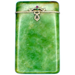 Art Deco, Diamond, Ruby Emerald, Cigarette Case