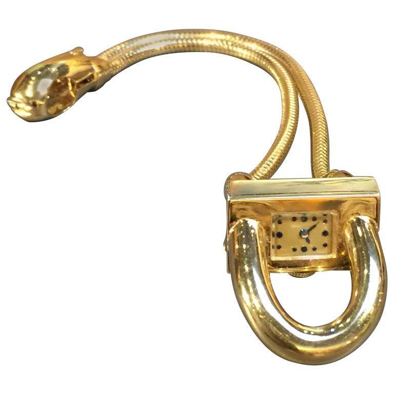 Van Cleef & Arpels Ladies Yellow Gold Cadenas Wristwatch, 1940s
