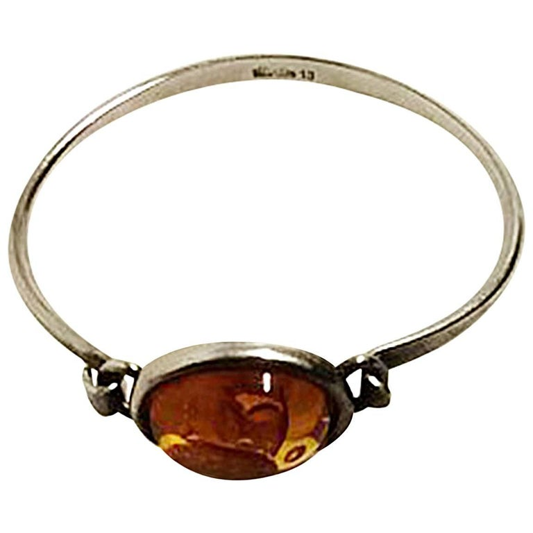 Niels Erik From Sterling Silver Bracelet with Amber