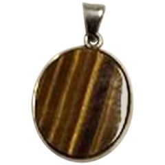 Niels Erik From Sterling Silver Pendant with Tiger's Eye
