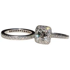 Tiffany & Co. Legacy Diamond Ring and Wedding Band 1.19 Carat