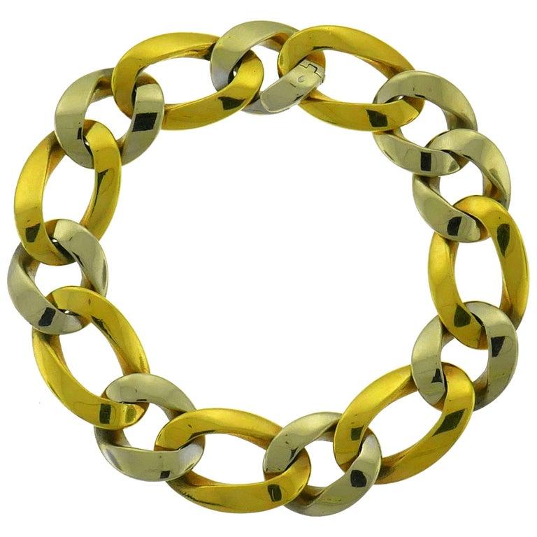 1970s Sterle Gold Link Bracelet