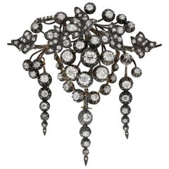 Impressive Early Victorian Diamond Brooch, circa 1850