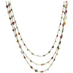 Multi Gem Set Necklace