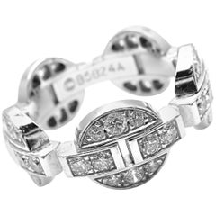 Cartier Himalia Diamond White Gold Band Ring