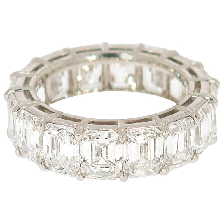 Emerald Cut Diamond Eternity Band For Sale