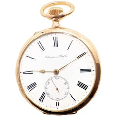 IWC International Watch Co. Yellow Gold Pocket Watch