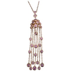 Cartier Legers Pink Sapphires Necklace