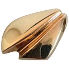 Hans Hansen Pendant in 14 Carat Gold