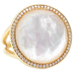 Ippolita Lollipop Ring in 18 Karat Gold with Diamonds and Mother-of-Pearl