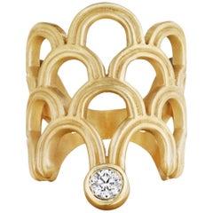 Doryn Wallach Normandie Diamond Cocktail Ring