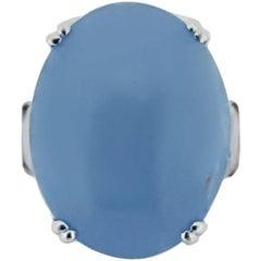 8.10 Carat Aquamarine and Diamond White Gold Ring