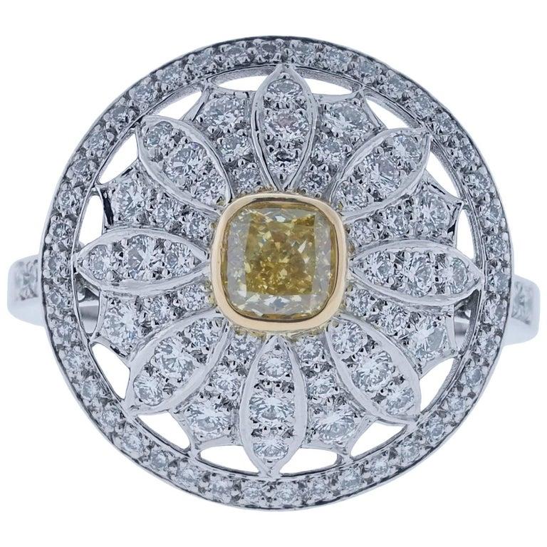 Tiffany Daisy Ring Yellow Diamond
