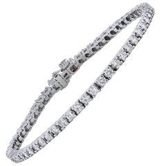 H & H 3.35 Carat Diamond Tennis Bracelet